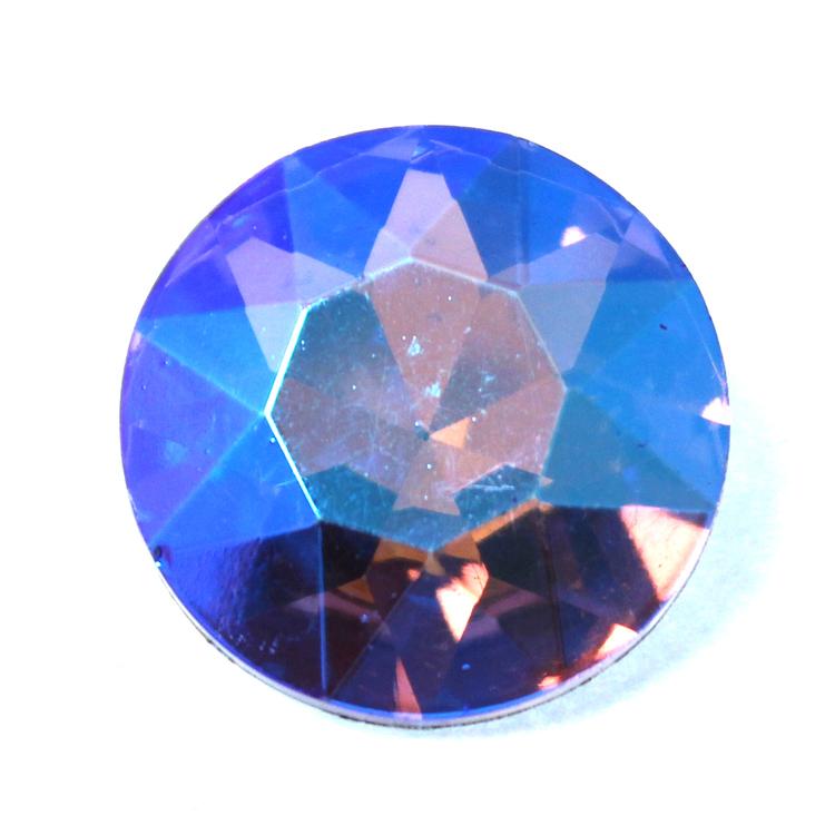 Violet AB Kinesisk Round Stone 27mm 1st