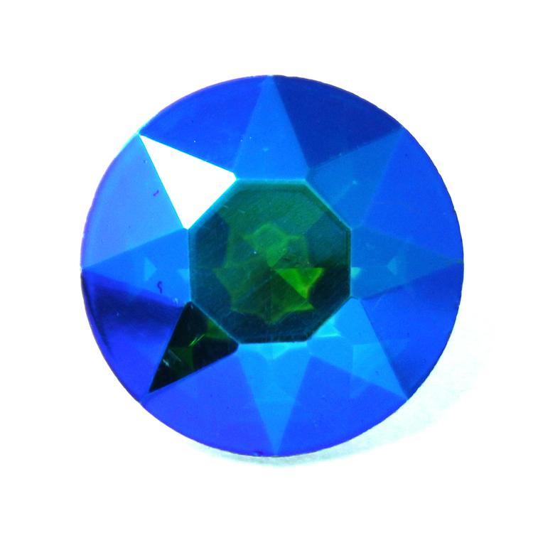 Dark Green AB Kinesisk Round Stone 27mm 1st