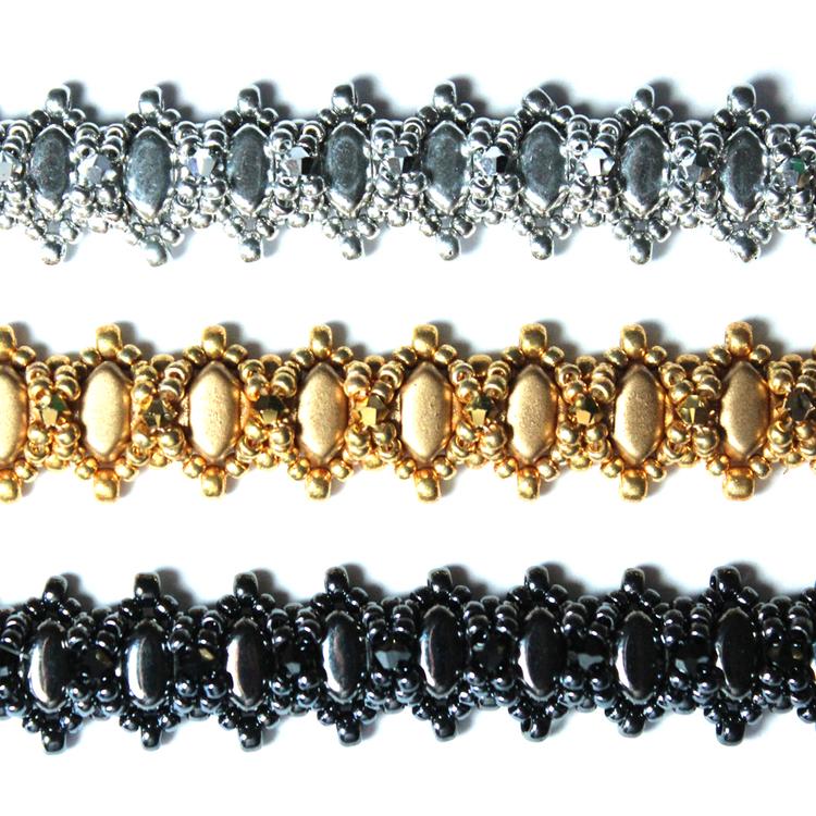 Silky Sparkle Bracelet Kit Guld (EJ MÖNSTER ENDAST PÄRLOR)