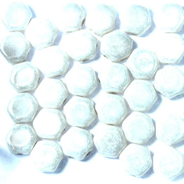 Opaque White Luster Honeycomb 30st