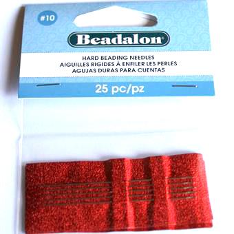 Beadalon #10 Hård Pärlnål 25st