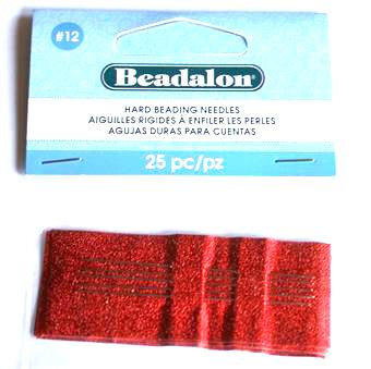 Beadalon #12 Hård Pärlnål 25st