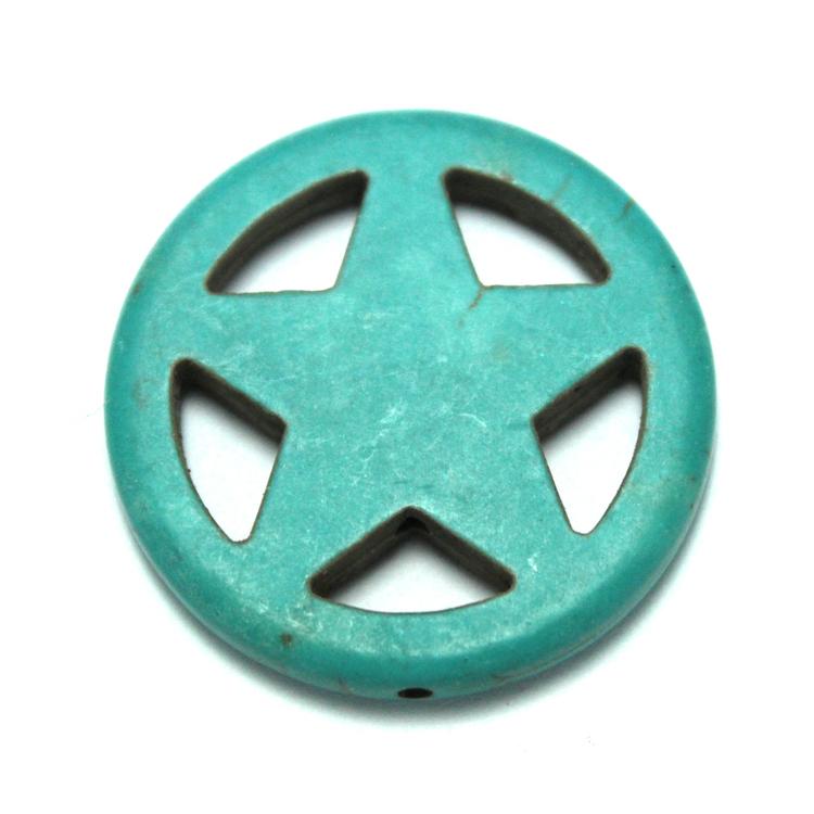 Turkos Howlite Stjärna i Ring 30mm 1st
