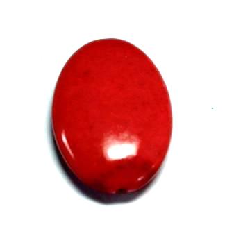 Röd Howlit Oval 30x20mm 1st