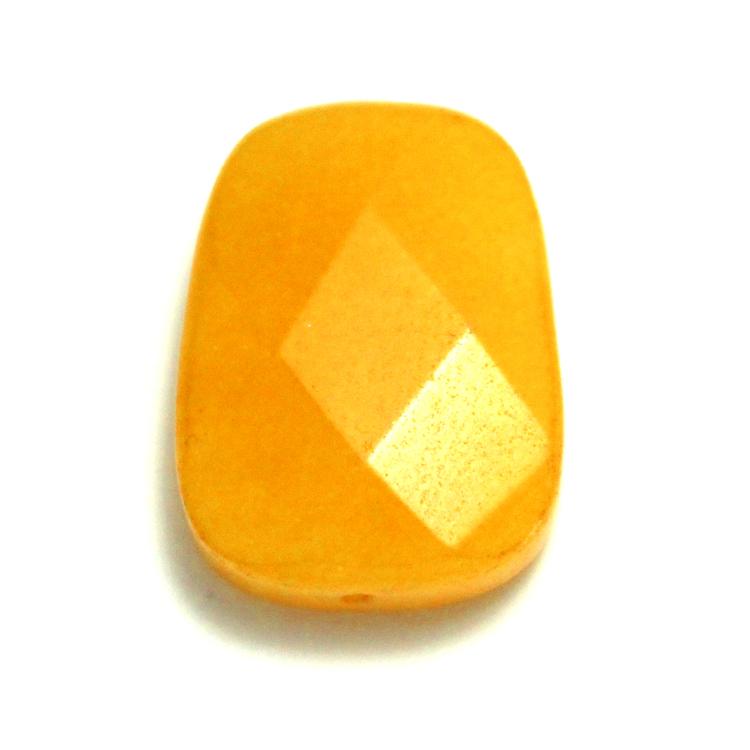 Gul Jade Facetterad Fyrkant 25x18 1st