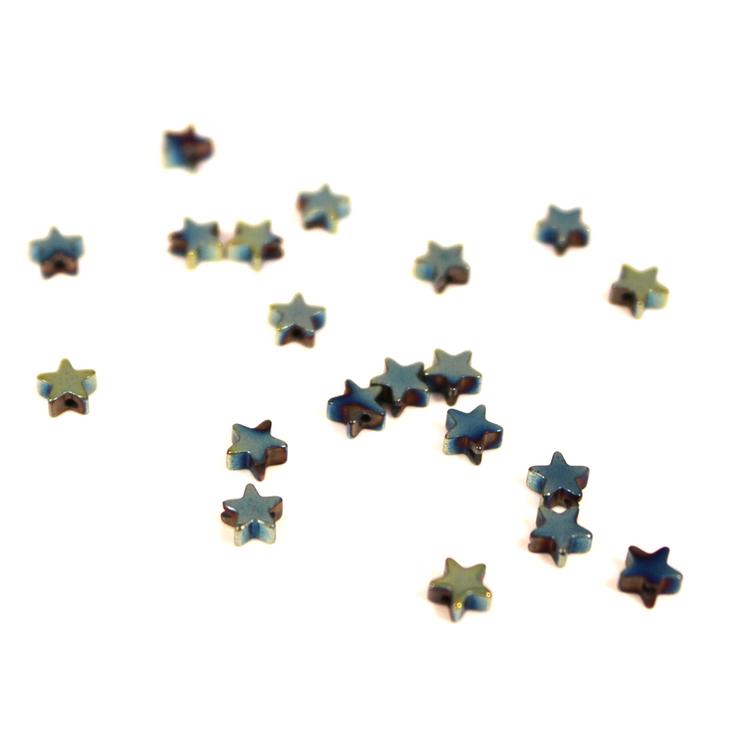 Grön Hematite Stjärnor 4mm 50st
