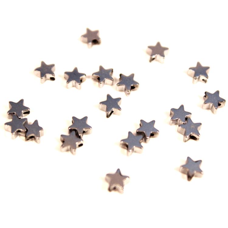 Silver Hematite Stjärnor 4mm 50st