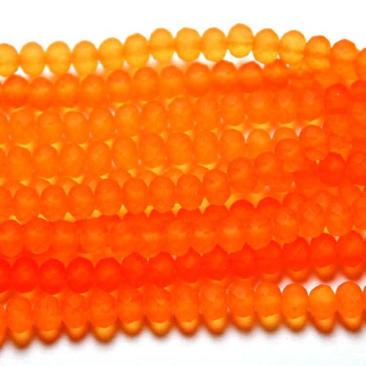 Orange Rubber Abacus 3x4mm 1sträng