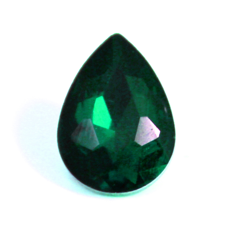 Emerald Kinesisk Strass Droppe 18x13mm 2st