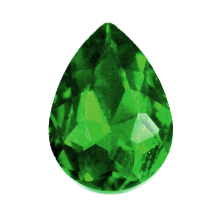 Green Kinesisk Strass Droppe 18x13mm 2st