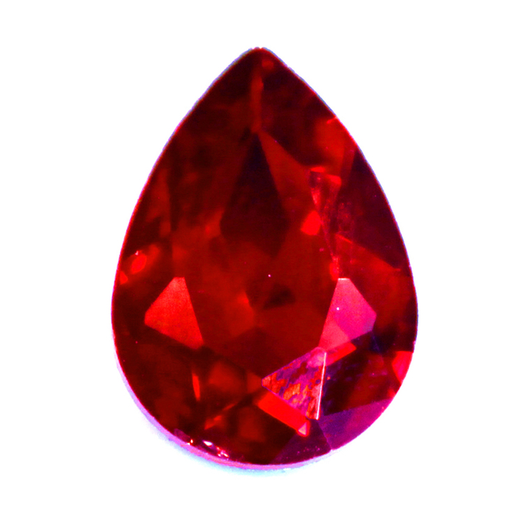 Ruby Kinesisk Strass Droppe 25x18mm 1st