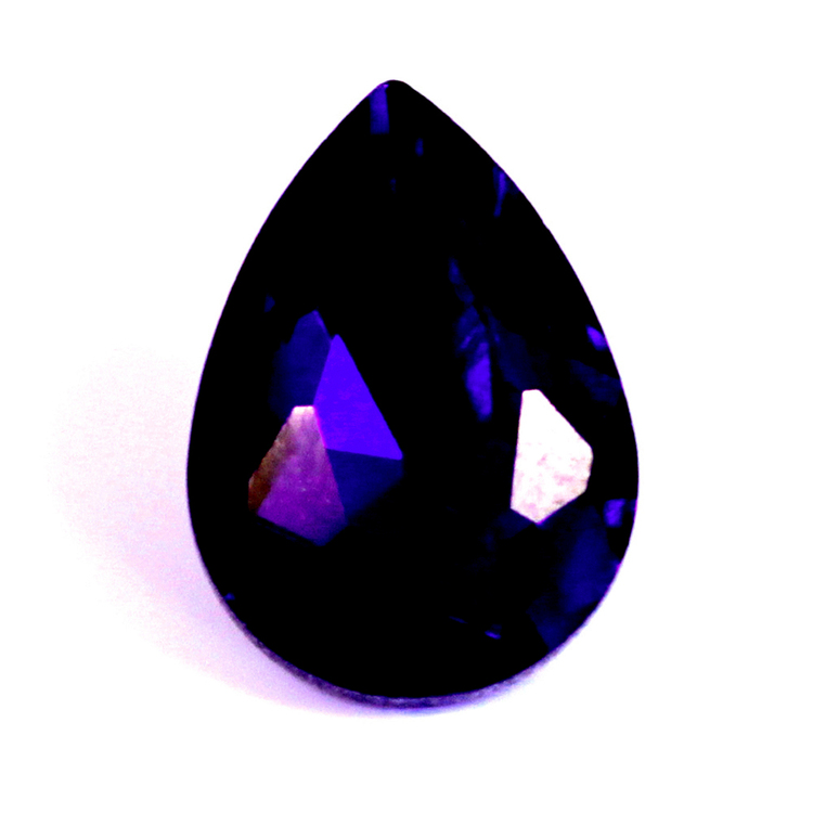 Dark Purple Kinesisk Strass Droppe 25x18mm 1st