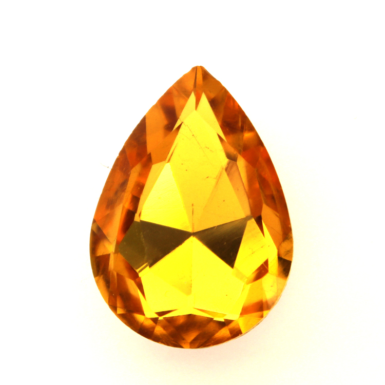 Yellow Kinesisk Strass Droppe 30x20mm 1st
