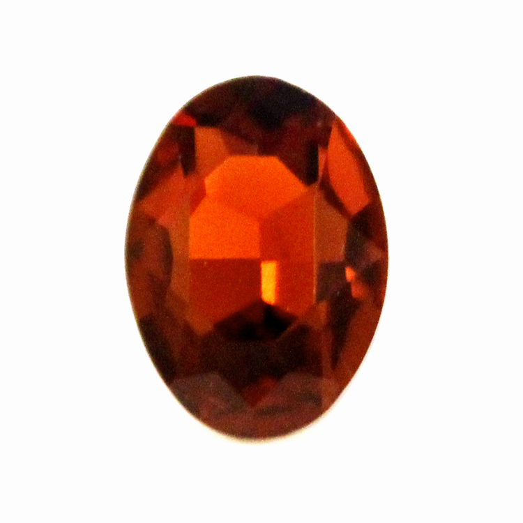 Dark Topaz Kinesisk Strass Oval 25x18mm 1st