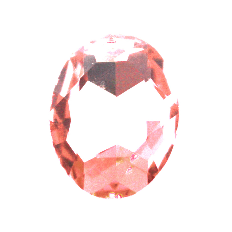 Peach Kinesisk Strass Oval 25x18mm 1st