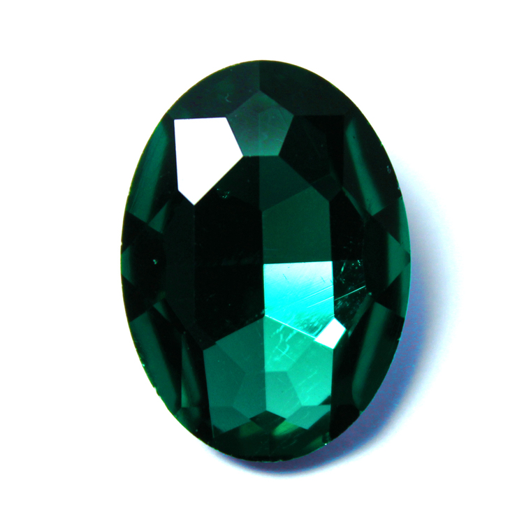 Emerald Kinesisk Strass Oval 25x18mm 1st