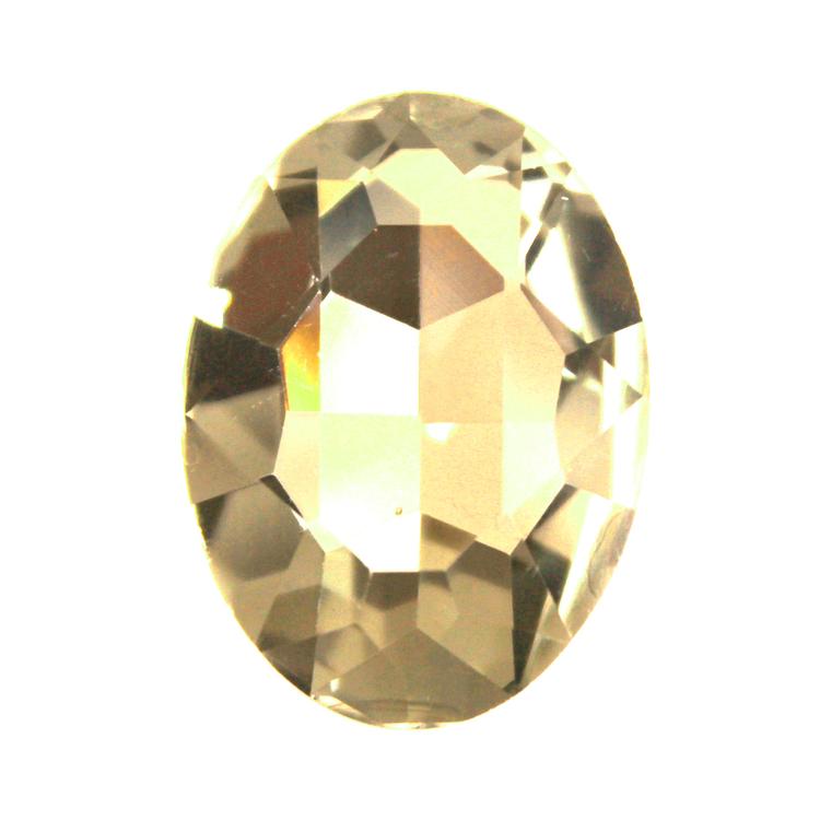 Light Topaz Kinesisk Strass Oval 18x13mm 2st