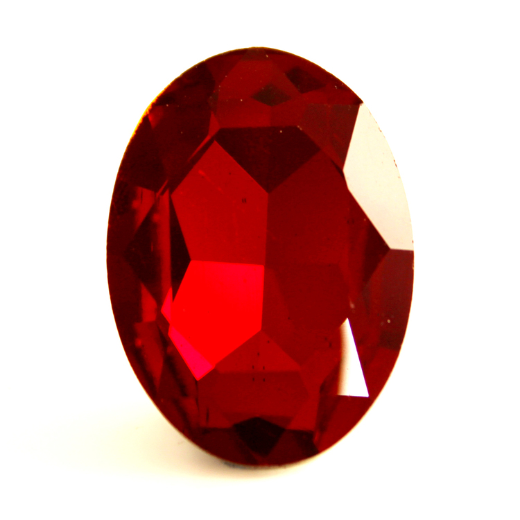 Ruby Kinesisk Strass Oval 18x13mm 2st