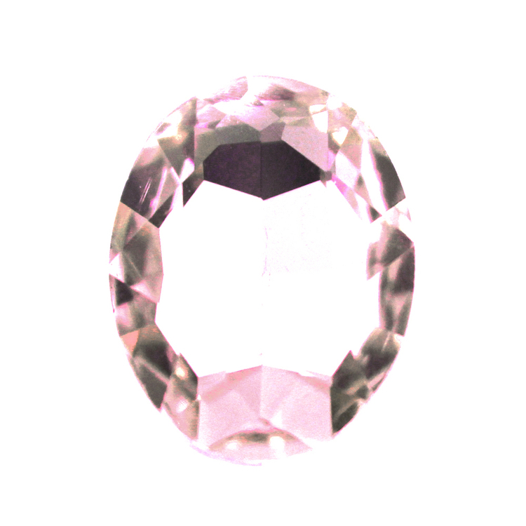 Pink Kinesisk Strass Oval 18x13mm 2st