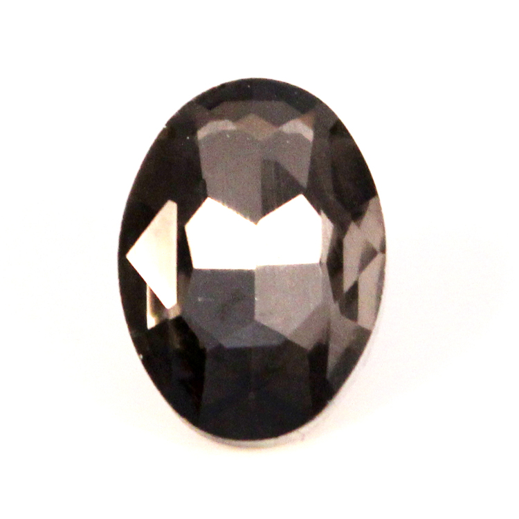 Black Diamond Kinesisk Strass Oval 18x13mm 2st