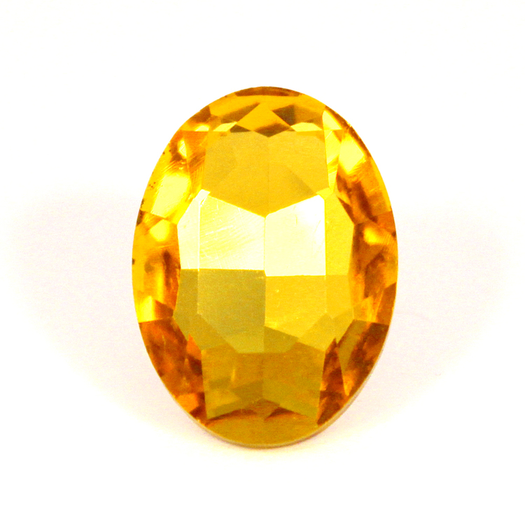 Yellow Kinesisk Strass Oval 30x20mm 1st