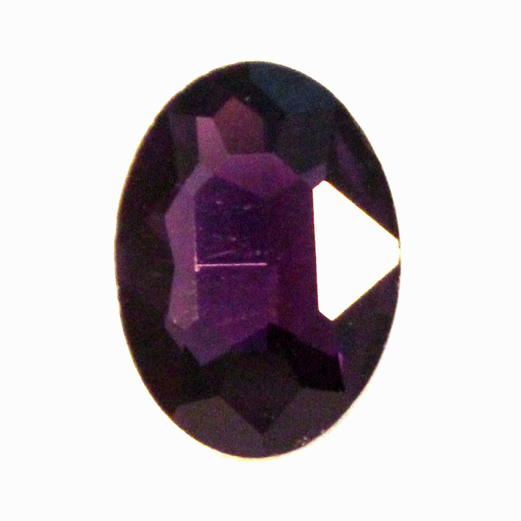 Purple Kinesisk Strass Oval 30x20mm 1st