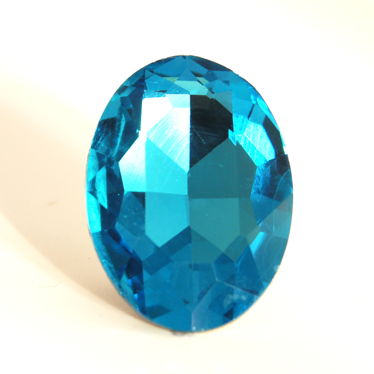 Aqua Kinesisk Strass Oval 30x20mm 1st