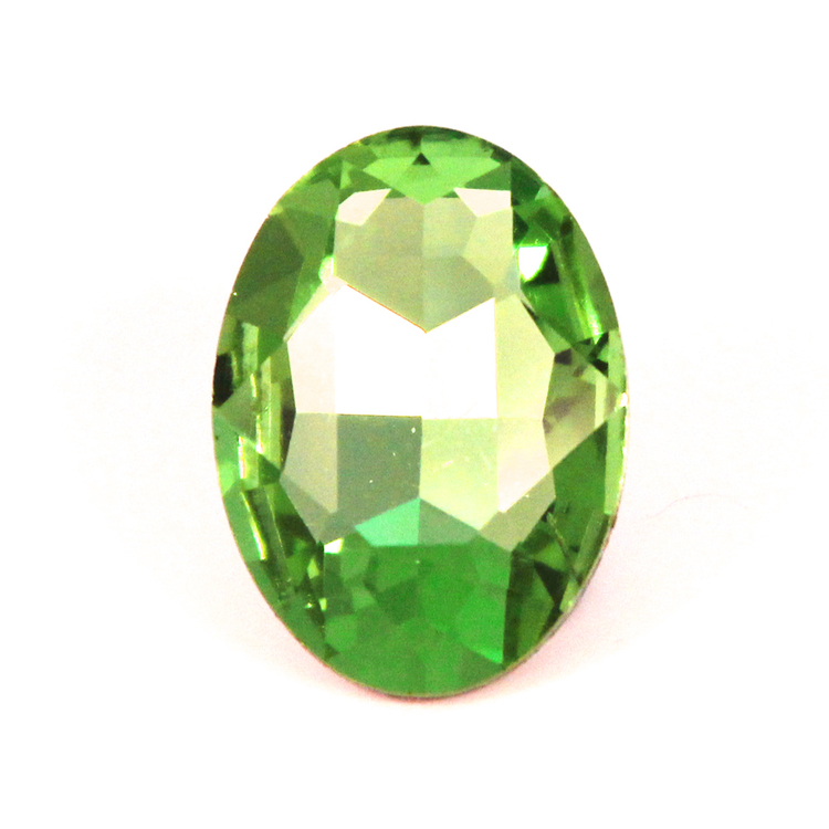 Light Green Kinesisk Strass Oval 30x20mm 1st