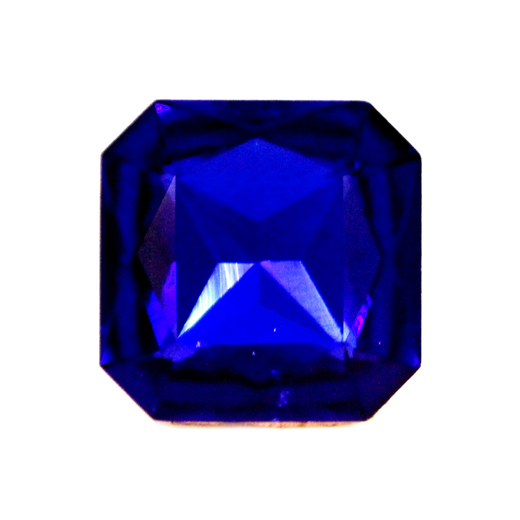 Cobalt Kinesisk Strass Kvadrat 13x13mm 2st