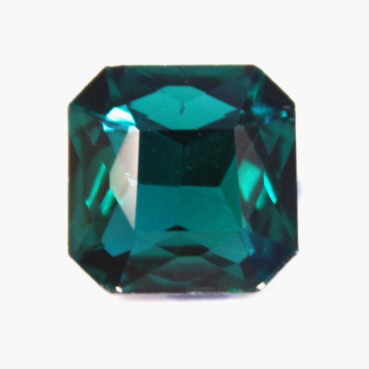 Emerald Kinesisk Strass Kvadrat 13x13mm 2st