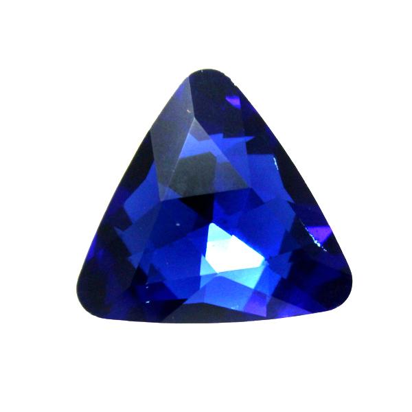 Cobalt Kinesisk Strass Triangel 14mm 2st