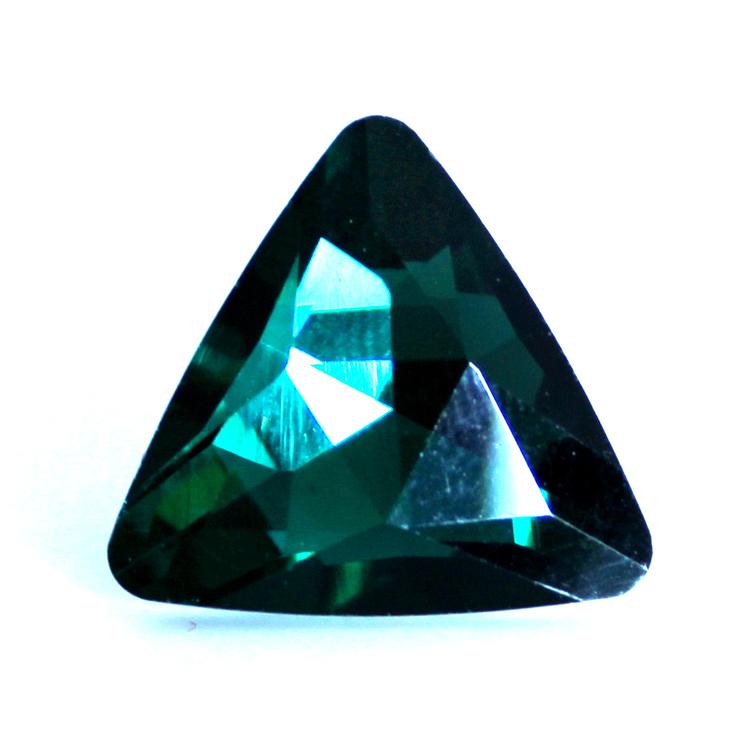 Emerald Kinesisk Strass Triangel 14mm 2st