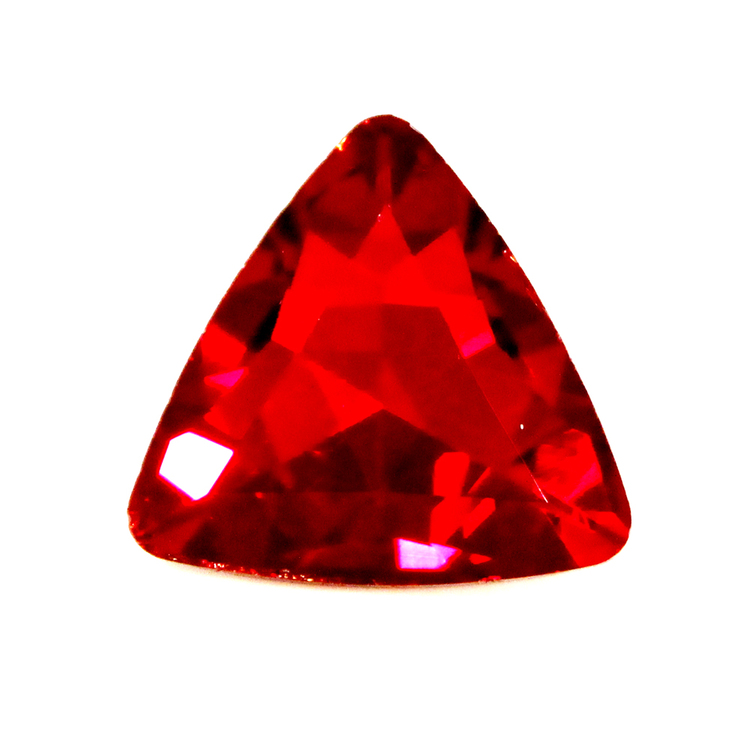 Ruby Kinesisk Strass Triangel 18mm 2st