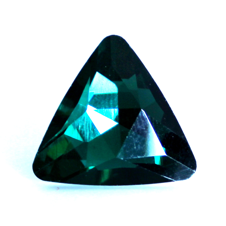 Emerald Kinesisk Strass Triangel 18mm 2st