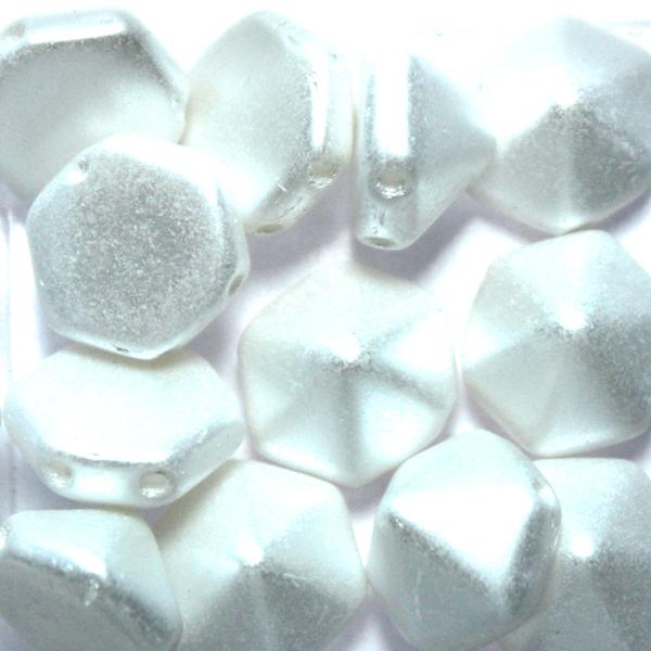 Alabaster Pastel White Pyramid Hexagon 12st