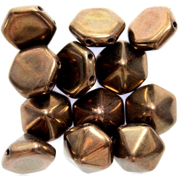 Jet Bronze Pyramid Hexagon 12st