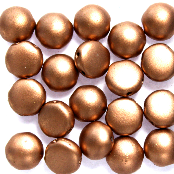 Vintage Copper Candy 8mm 20st