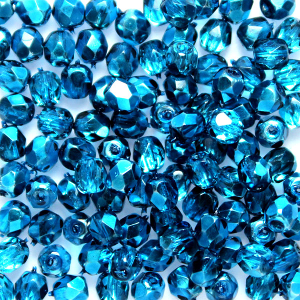 Aqua Metallic Ice Fire Polish 4mm 100st