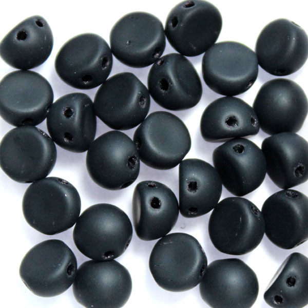 Jet Matted Cabochon 10g