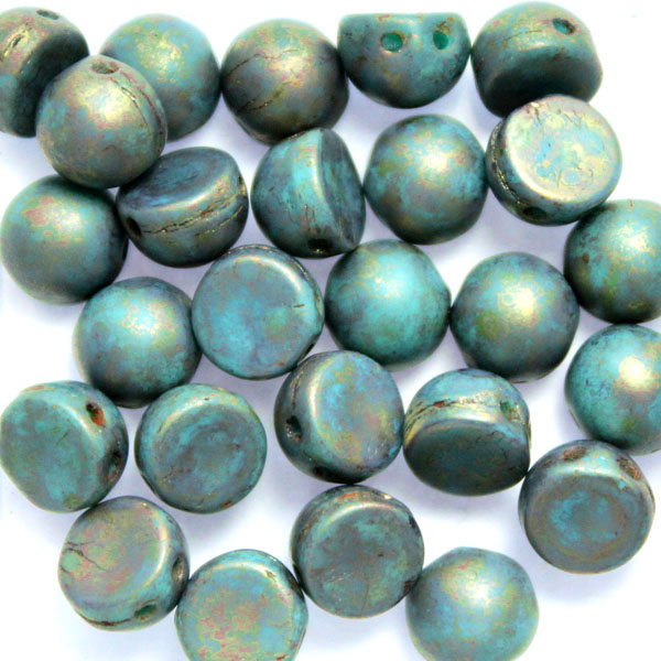 Green Turquoise Copper Picasso Cabochon 10g