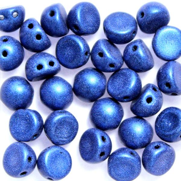 Metallic Suede Blue Cabochon 10g