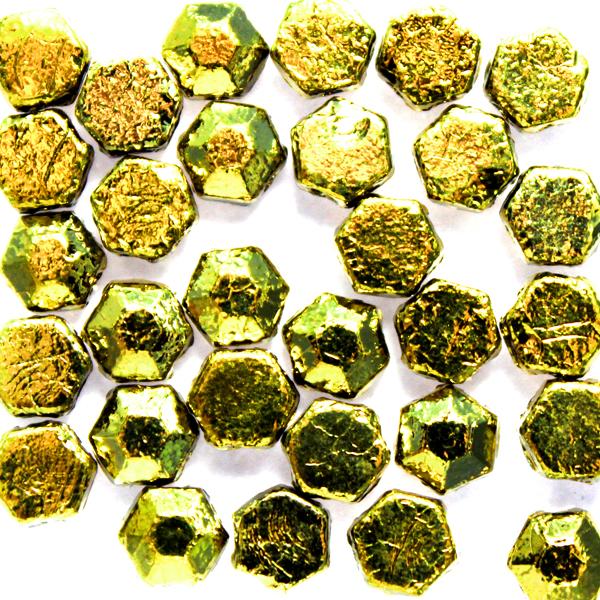 Chiseled Amber Honeycomb Jewel 30st