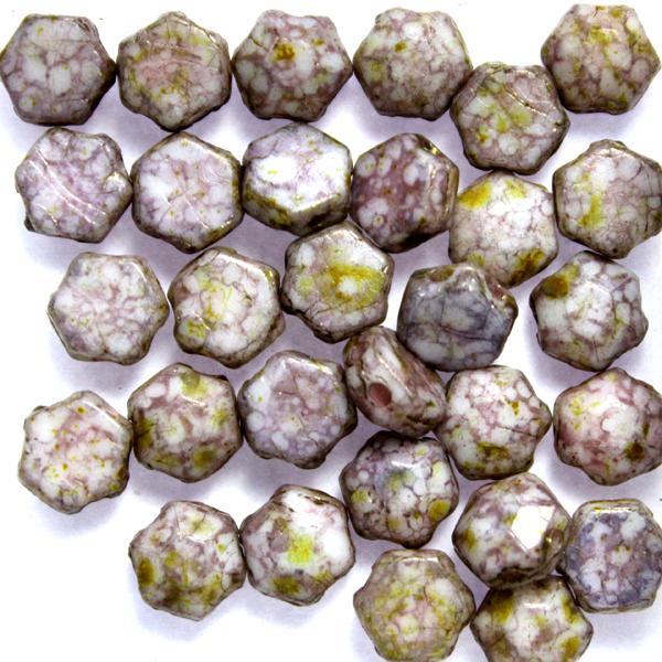 Alabaster Bronze Picasso Honeycomb Jewel 30st