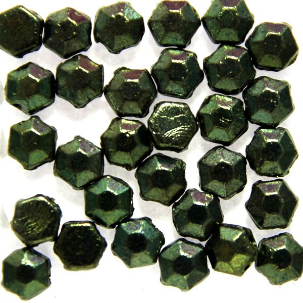 Jet Green Luster Honeycomb Jewel 30st