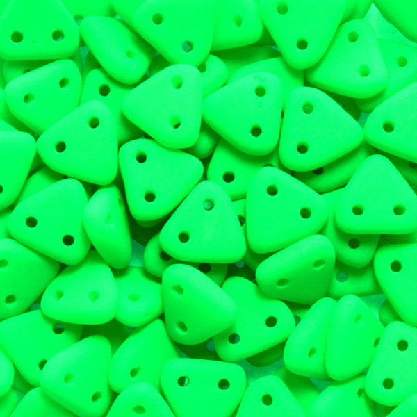 Neon Green 2-hole Triangle 10g