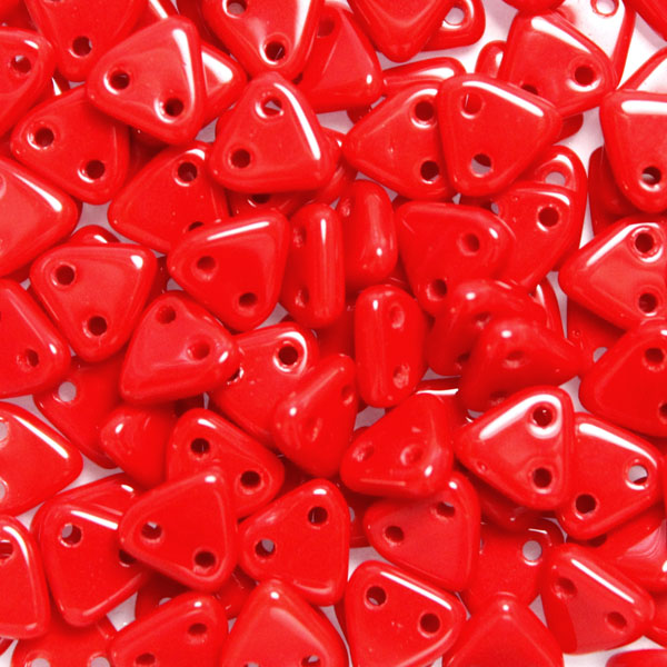 Opaque Red 2-hole Triangle 10g