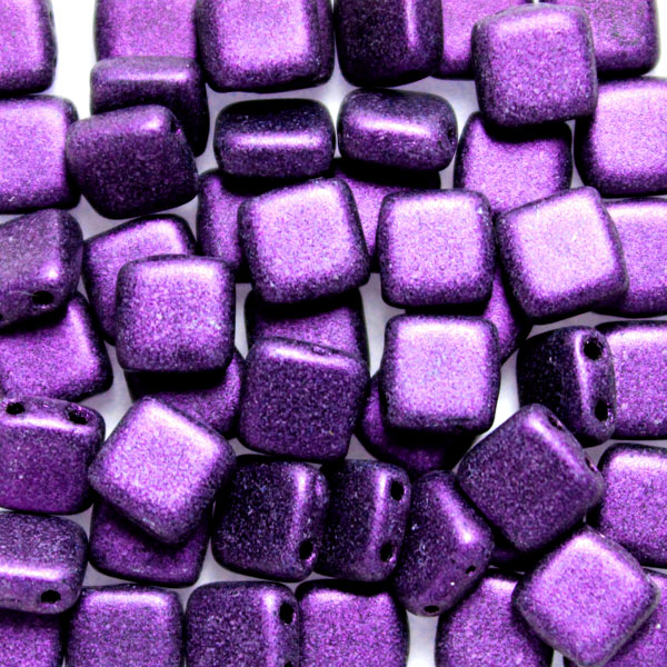 Metallic Suede Purple Tile 50st