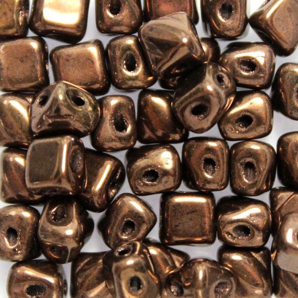 Jet Bronze Silky Beads Mini 40st