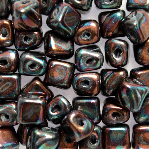 Jet Iris Silky Beads Mini 40st