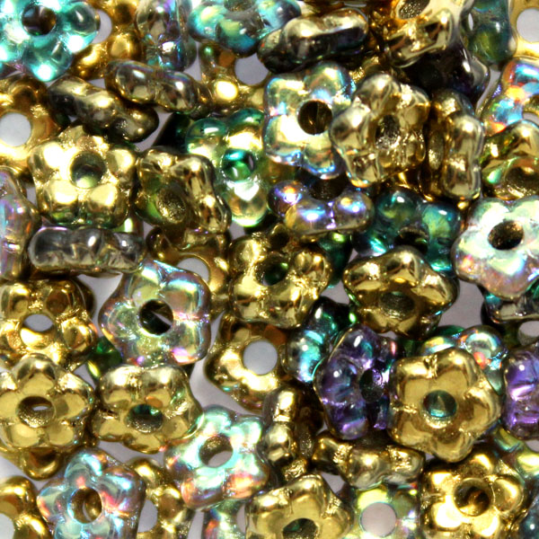 Crystal Golden Rainbow Flower Bead 5g